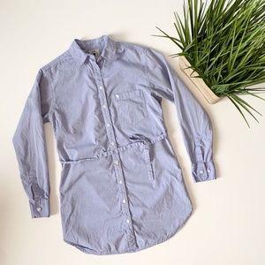Talula Belted Tunic Shirt Blue Size XXS